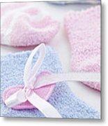 Baby Socks  Metal Print by Elena Elisseeva
