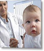 Baby Vaccination Metal Print