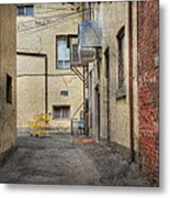 Back Alley Cityscape Metal Print