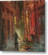 Back Alley Justice Metal Print by Tom Shropshire