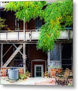 Back Of Main Street Metal Print by MJ Olsen