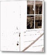 Back Porch Reflections Metal Print