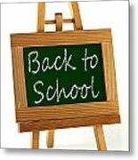 Back To School Sign Metal Print by Blink Images
