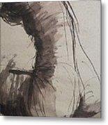 Back Torso - Sketch Of A Female Nude Metal Print