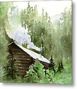 Backcountry Morning Metal Print