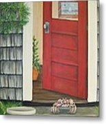 Backdoor Visitors Three  Metal Print by Lin Ruch