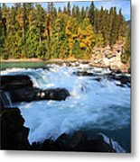Backguard Falls On Fraser River In British Columbia Metal Print by Mark Duffy