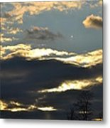 Backlit Clouds Metal Print