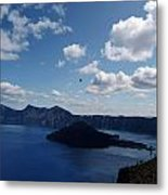 Backside Of Crater Lake Metal Print