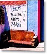 Backstreets Oaxaca Metal Print