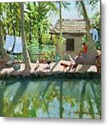 Backwaters India  Metal Print