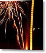 Backyard Fireworks 2012 1 Metal Print