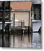 Backyard Waterway Metal Print
