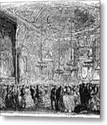 Baden-baden: Salon, 1858 Metal Print
