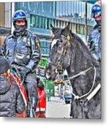 Badges And Horses Metal Print