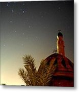 Baghdad Mosque In The Night Metal Print