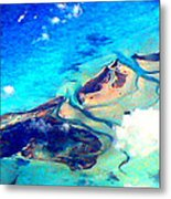 Bahama Out Island Filtered Metal Print