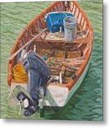 Bailey's Bay Fishing Dinghy Metal Print