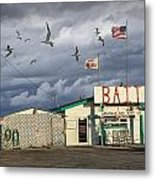 Bait Shop By Aransas Pass In Texas Metal Print
