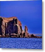 Baja Elephant Rock Metal Print