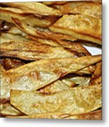 Baked Potato Fries Metal Print