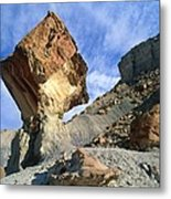 Balancing Rock Caused By Water Erosion Metal Print by G. Brad Lewis