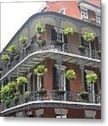 Balcony In New Orleans Metal Print