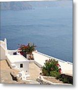Balcony Oia Santorini Greek Islands Metal Print