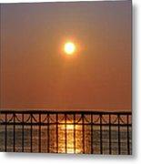 Balcony Sunrise Metal Print