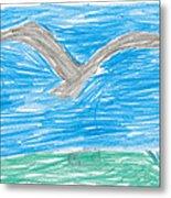 Bald Eagle Flying Metal Print