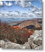 Bald Knob Overlook Near Mountain Lake Metal Print