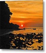 Bali Indonesian Sunset Metal Print