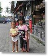Bali Street Metal Print