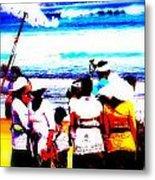 Balinese Beach Funeral  Metal Print