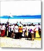 Balinese Beach In Mourning Metal Print