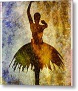 Ballerina 1 With Border Metal Print