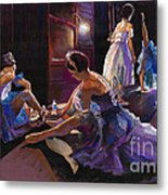 Ballet Behind The Scenes Metal Print