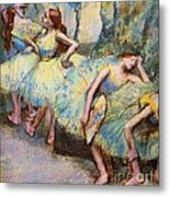 Ballet Dancers In The Wings Metal Print by Pg Reproductions