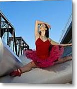 Ballet Splits Metal Print