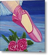 Ballet Toe Shoes For Madison Metal Print by Margaret Harmon