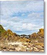 Ballintoy Bay Basalt Rock Metal Print