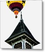 Balloon By The Steeple Metal Print