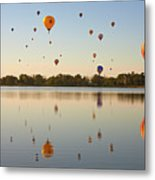 Balloon Festival Metal Print by Lightvision, LLC