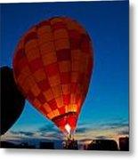 Balloon Glow Metal Print
