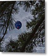 Balloon In The Pines Metal Print