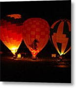 Balloons At Night Metal Print