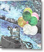 Balloons In The Park Metal Print