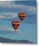 Balloons Over The Rockies Painterly Metal Print