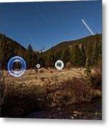 Balls Of Light Field Metal Print