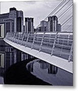 Baltic And Gateshead Millennium Bridge Metal Print